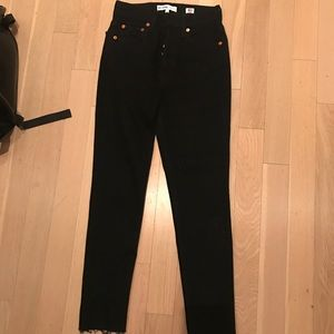 Black re/done high rise skinny jeans, worn once